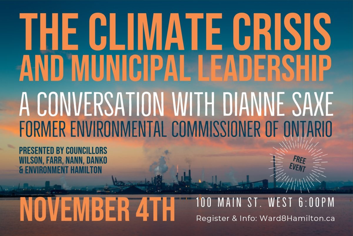 Hamilton Climate Change and Municipal Leadership Event November 4th