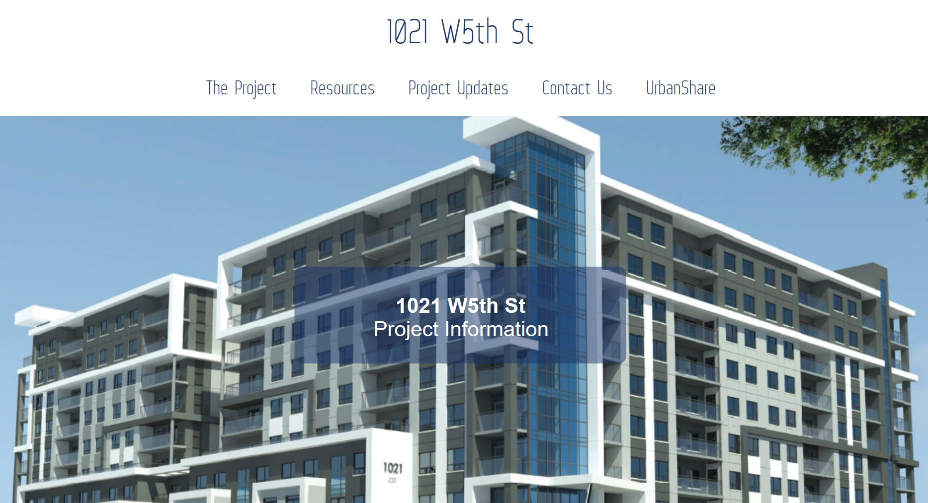 West 5th and Stone Church Development Application Website