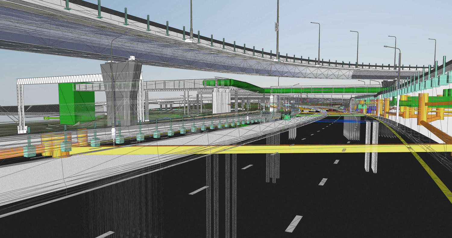 The BIM model of the object of transport infrastructure of wiref