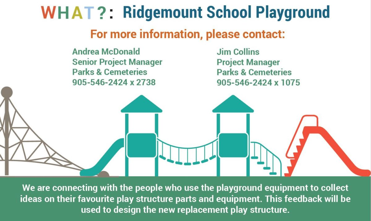 Ridgemount Play Structure Public Engagement Session March 5th