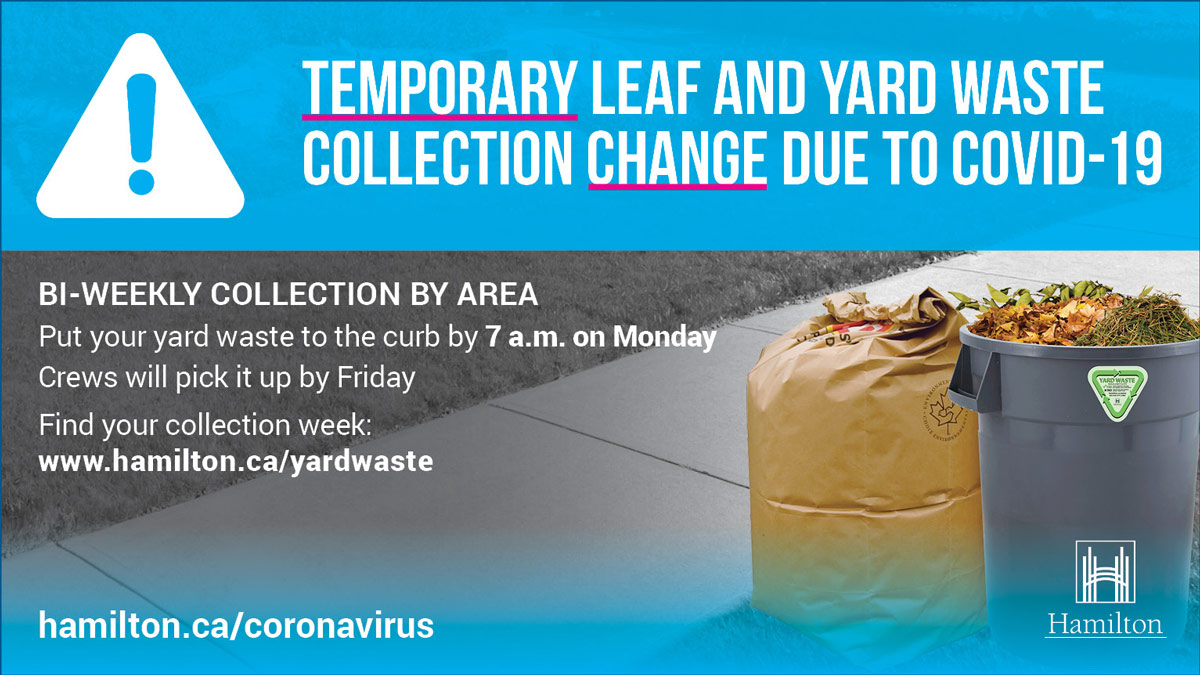 April 17: Updates from the City of Hamilton (including Leaf and Yard Waste)