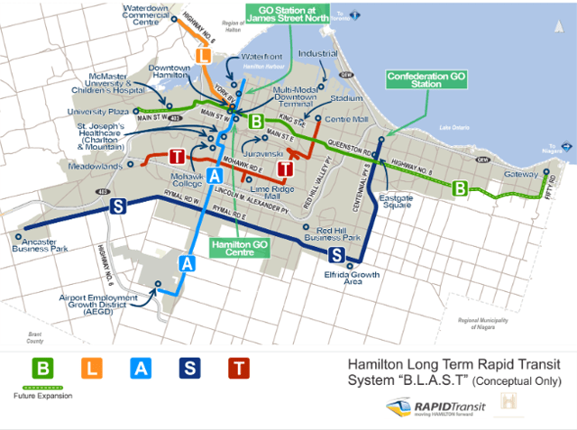 Local Higher Order Rapid Transit Recommended by Hamilton Transportation Task Force