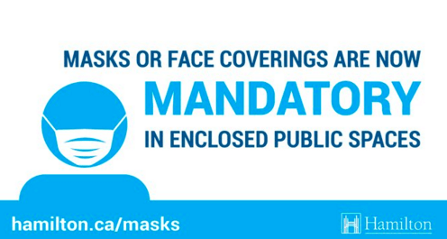 Mandatory use of masks in public enclosed spaces in effect as of July 20. Here is what you need to know.