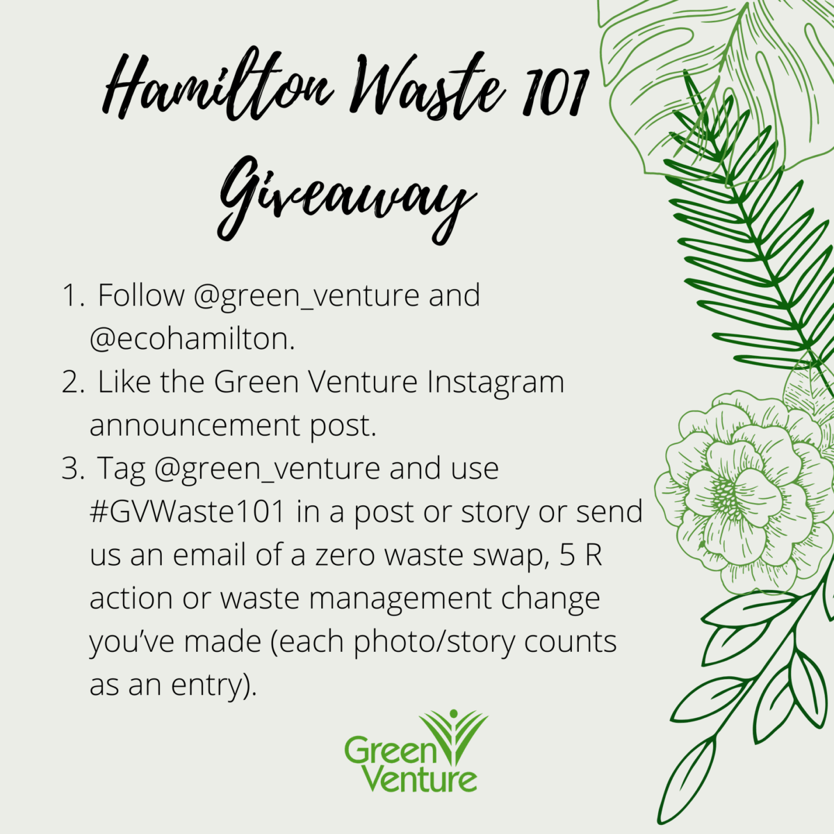Take part in Green Venture's Waste 101 contest