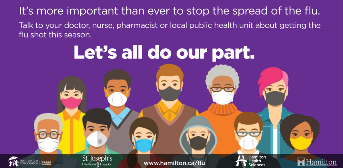 Let's do our part to stop the spread with a flu shot this fall