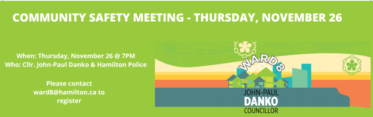 Community Safety Meeting this Thursday