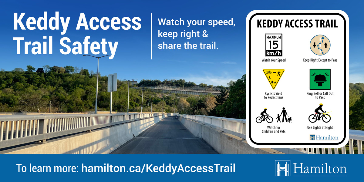 City sharing safety tips for those who use the Keddy Access Trail