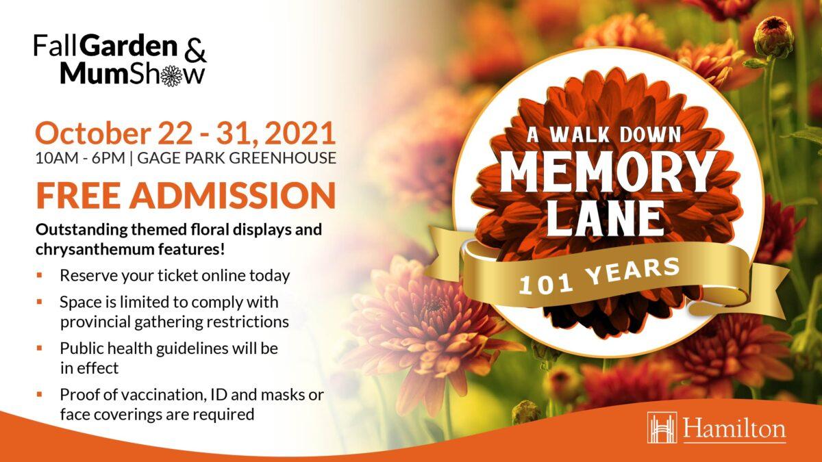 Annual Fall Garden & Mum Show starts this weekend